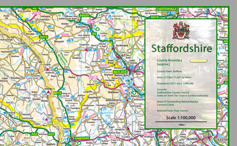 Staffordshire County Map