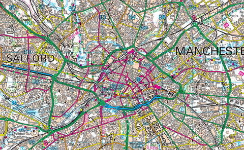 Greater Manchester Map I Love Maps