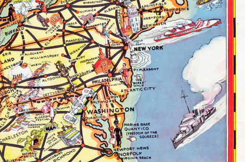 The Greyhound Route Map of the United States 1937