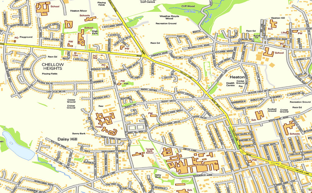 Bradford Street Map I Love Maps