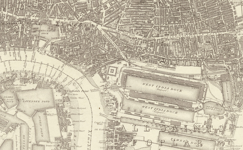 1872 Map of South East London  Ordnance Survey 110560 Scale  I