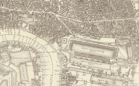 1872 Map of South East London - Ordnance Survey 1:10,560 Scale