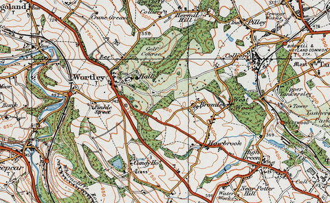 1920 Sheffield and Barnsley Ordnance Survey Map I Love Maps