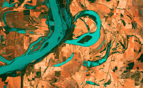Meandering Mississippi - Earth as Art