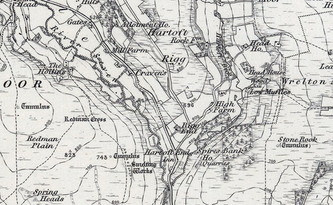 1850 Egton and the North Yorkshire Moors Ordnance Survey Map
