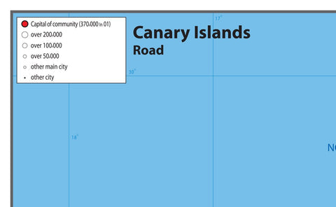 Canary Islands Road Map