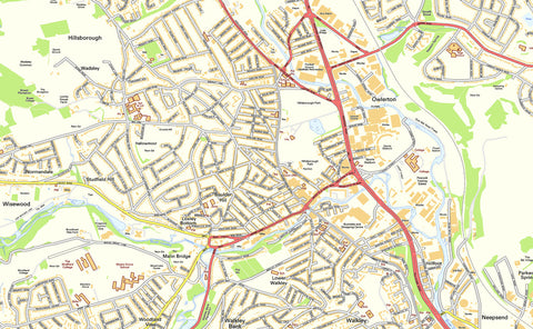Sheffield Street Map I Love Maps