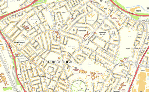Peterborough Street Map