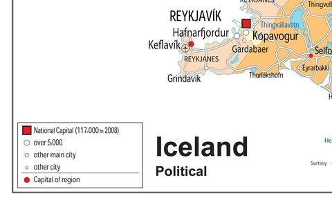 Iceland Political Map