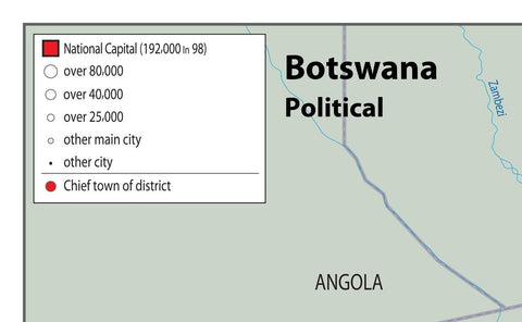 Botswana Political Map