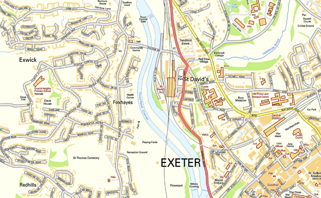 Exeter Street Map I Love Maps