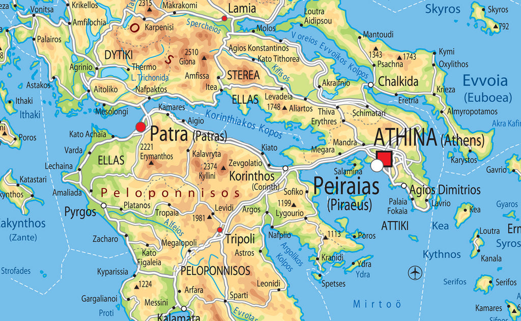 Greece Physical Map | I Love Maps