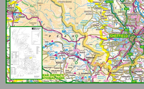 South Yorkshire County Map I Love Maps