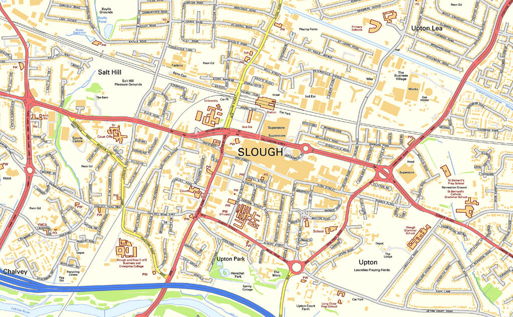 Slough Street Map I Love Maps