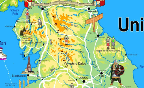 Children's Illustrated Map of the United Kingdom