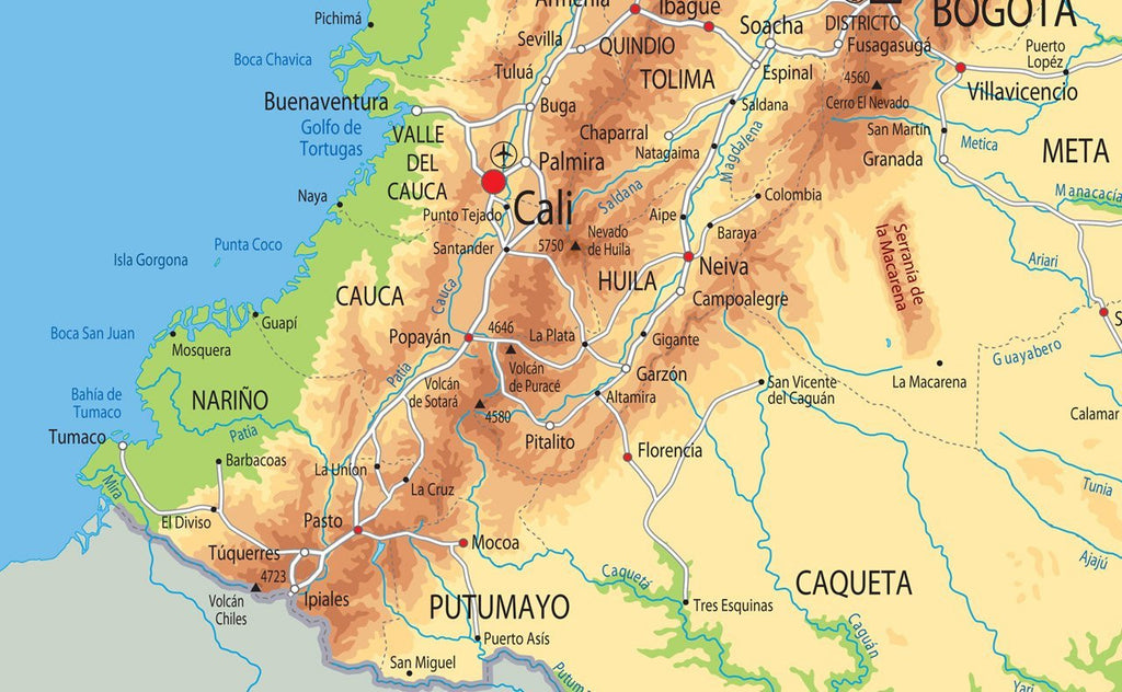 Colombia Physical Map I Love Maps - Physical map of colombia