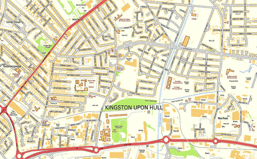 Kingston upon Hull Street Map I Love Maps