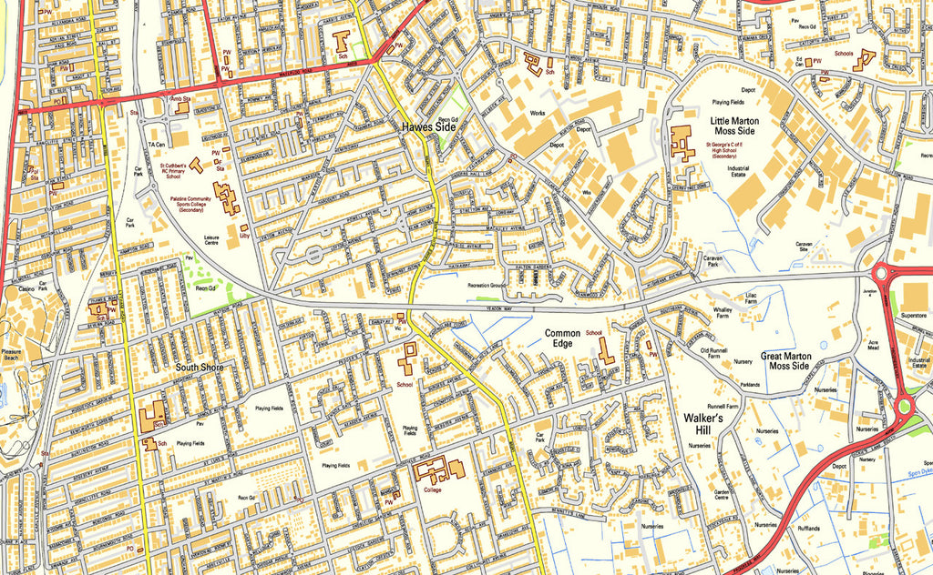 Street Map Of Blackpool Blackpool Street Map | I Love Maps