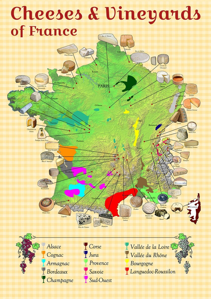 Map Of France Jura.Cheeses And Vineyards Of France Map I Love Maps