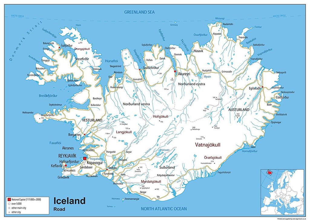 Iceland Road Map | I Love Maps