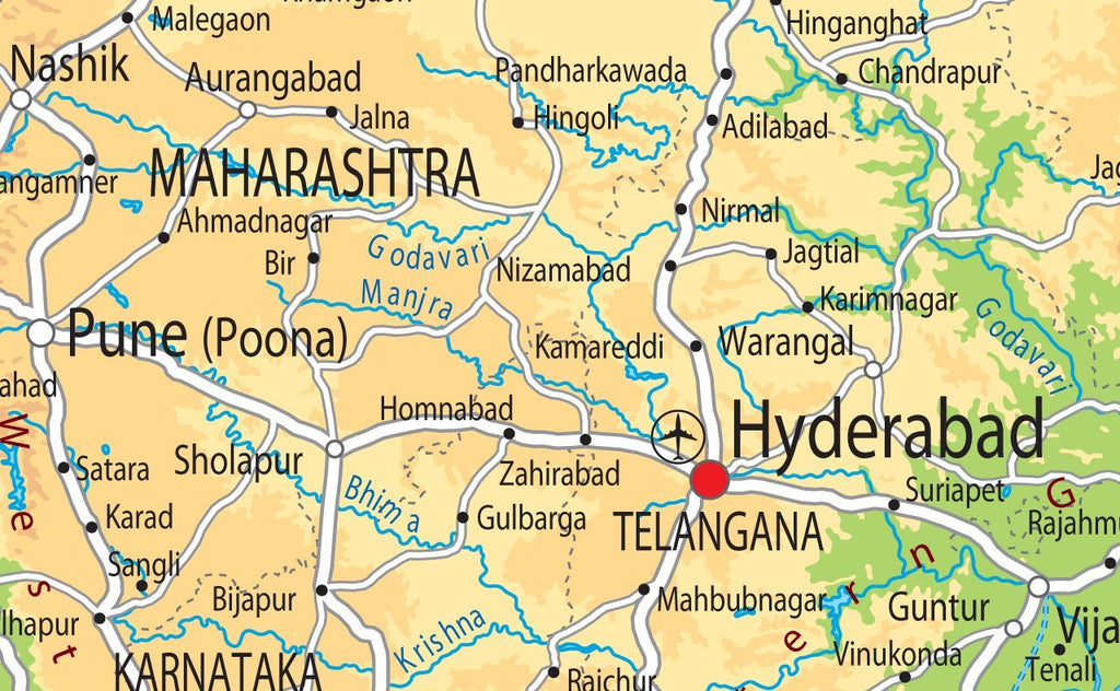India Physical Map | I Love Maps