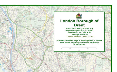 Brent London Borough Map