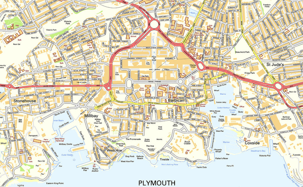 plymouth street map