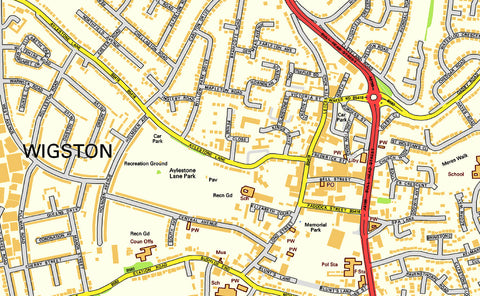 Leicester City Centre Street Map