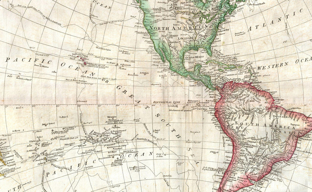 Mexico Map 1794.Antique Double Hemisphere World Map By Samuel Dunn 1794 I Love Maps