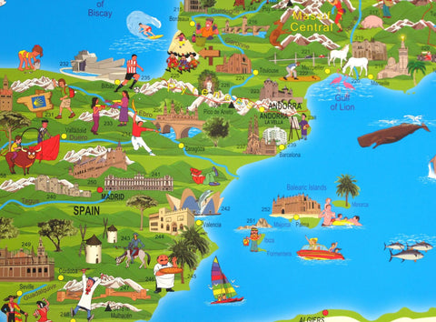 Children's Illustrated Map of Europe