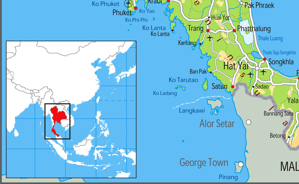 ... Thailand Physical Map · Thailand Physical Map