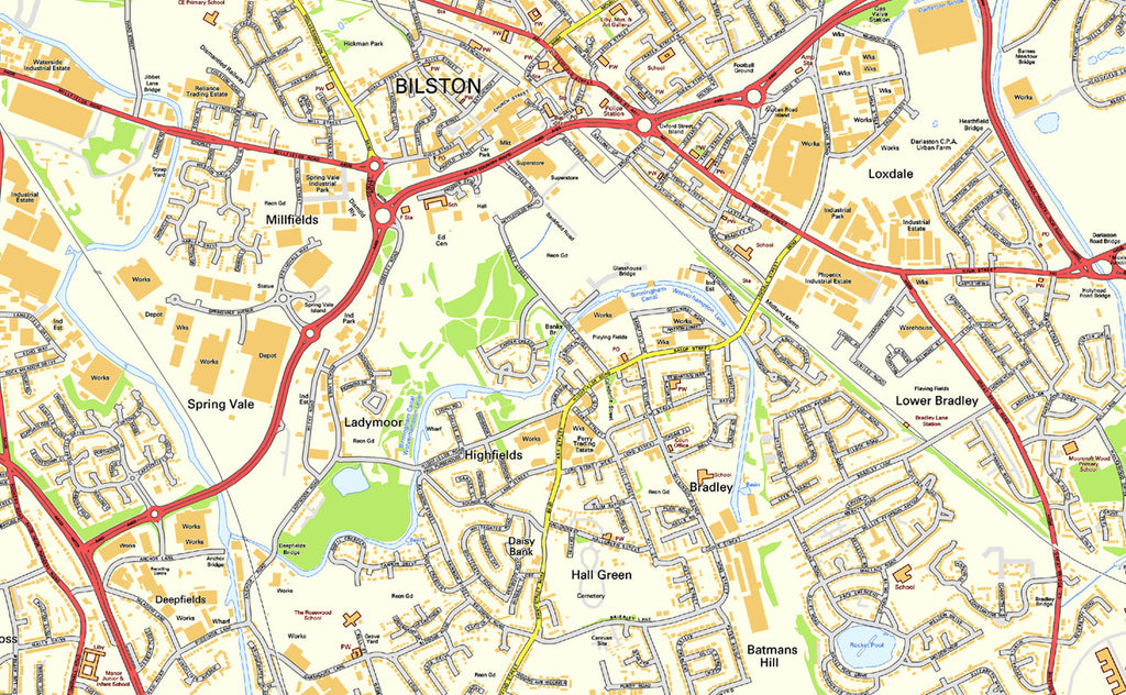 Wolverhampton Street Map I Love Maps