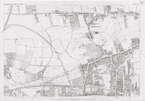 London 1872 Ordnance Survey Map - Sheet XI - Acton