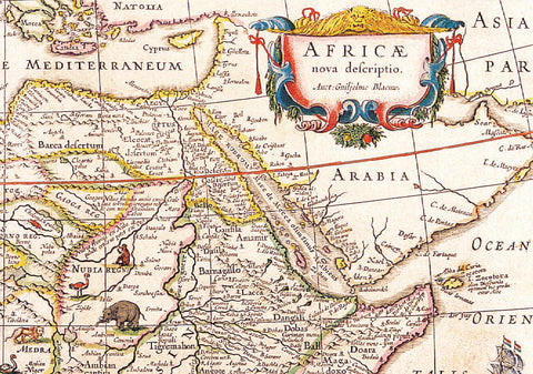 1644 Wall Map of Africa by Willem Blaeu