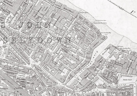 London 1872 Ordnance Survey Map - Sheet XLV - Bermondsey