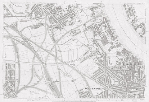 London 1872 Ordnance Survey Map - Sheet LVII - Deptford