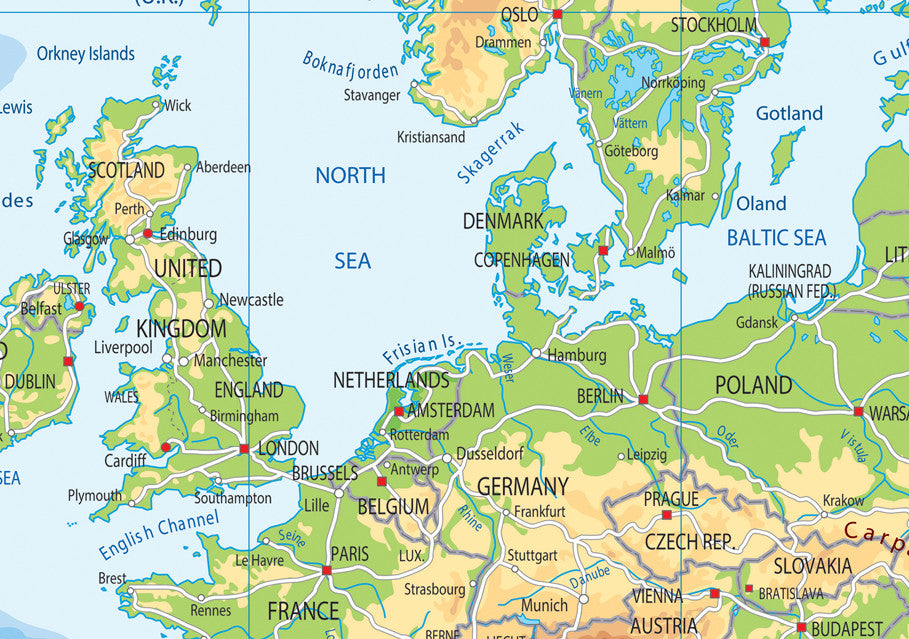 Europe Physical Map I Love Maps - Europe physical map