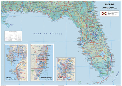 Florida State USA Physical Map