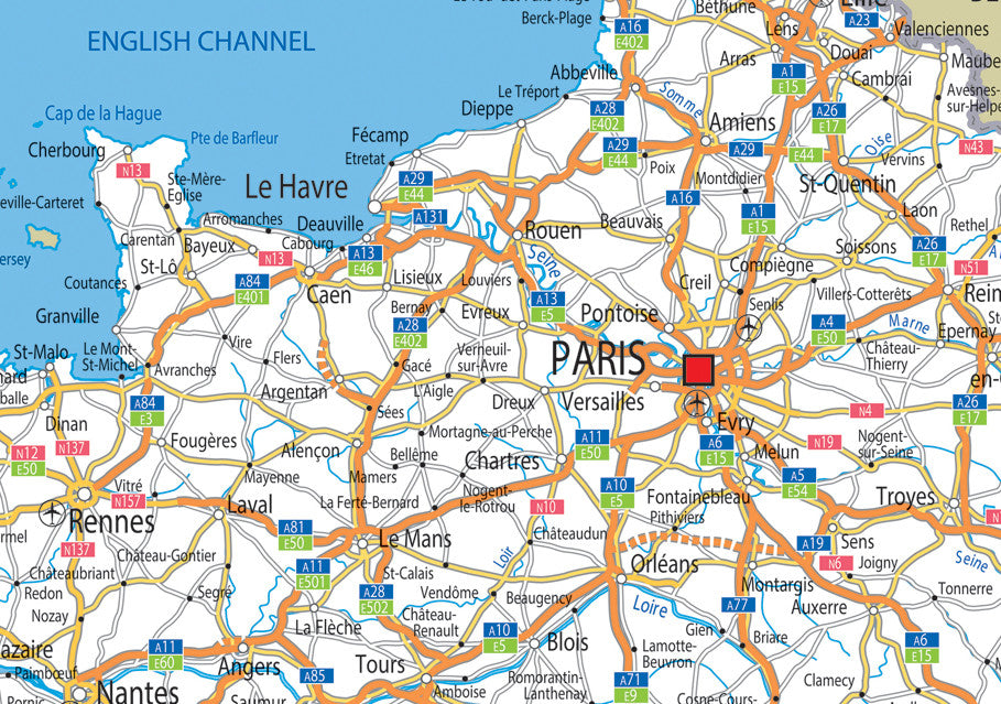 A4 Map Of France.France Road Mounted Map I Love Maps