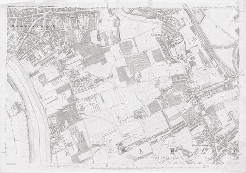 London 1872 Ordnance Survey Map - Sheet LII - Fulham