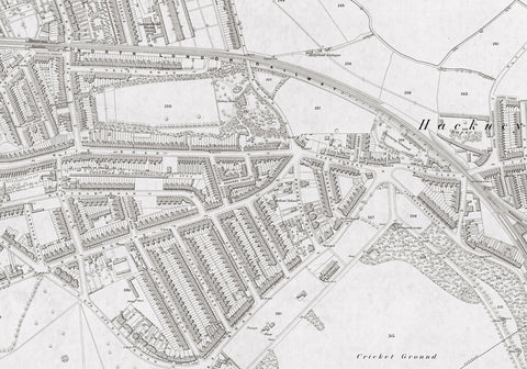 London 1872 Ordnance Survey Map - Sheet XIX - Hackney