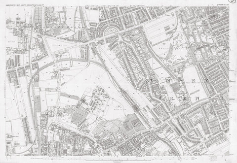 London 1872 Ordnance Survey Map - Sheet XLI - Hammersmith