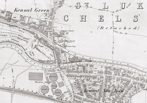 London 1872 Ordnance Survey Map - Sheet XXIII - Kensal Green