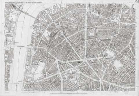 London 1872 Ordnance Survey Map - Sheet XLIV - Lambeth