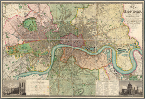 Greenwood's 1850 Map Of London