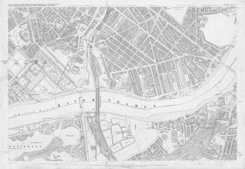 London 1872 Ordnance Survey Map - Sheet LIV - Pimlico