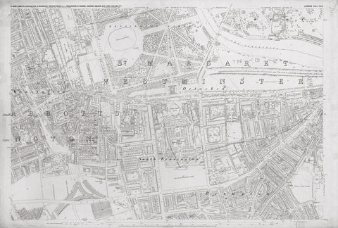 London 1872 Ordnance Survey Map - Sheet XLII - South Kensington