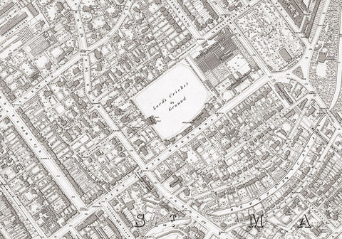 London 1872 Ordnance Survey Map - Sheet XXIV - St John's Wood