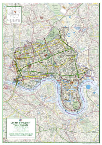 Tower Hamlets London Borough Map