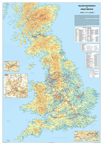 Great Britain Waterways Map